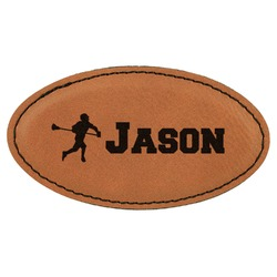 Lacrosse Leatherette Oval Name Badge with Magnet (Personalized)