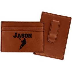 Lacrosse Leatherette Wallet with Money Clip (Personalized)