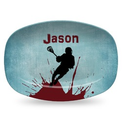 Lacrosse Plastic Platter - Microwave & Oven Safe Composite Polymer (Personalized)