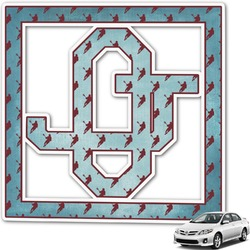 Lacrosse Monogram Car Decal (Personalized)