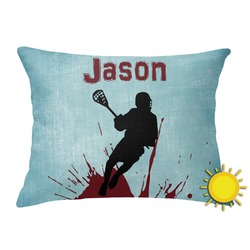 Lacrosse Outdoor Throw Pillow (Rectangular) (Personalized)