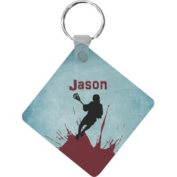 Lacrosse Diamond Key Chain (Personalized)