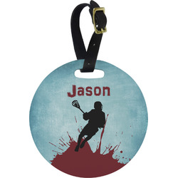Lacrosse Round Luggage Tag (Personalized)