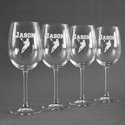 Lacrosse Wineglasses (Set of 4) (Personalized)