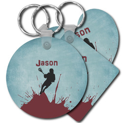Lacrosse Plastic Keychains (Personalized)