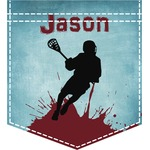 Lacrosse Iron On Faux Pocket (Personalized)