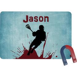 Lacrosse Rectangular Fridge Magnet (Personalized)