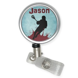 Lacrosse Retractable Badge Reel (Personalized)