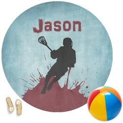 Lacrosse Round Beach Towel (Personalized)