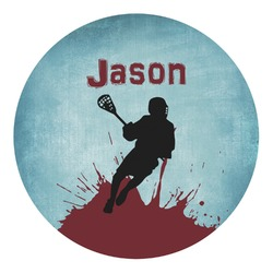 Lacrosse Round Decal (Personalized)