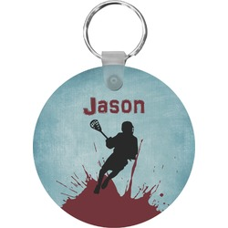 Lacrosse Round Keychain (Personalized)