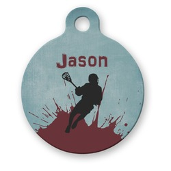 Lacrosse Round Pet ID Tag (Personalized)