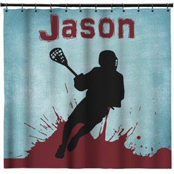 Lacrosse Shower Curtain (Personalized)