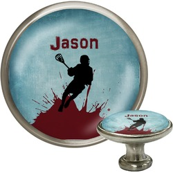 Lacrosse Cabinet Knob (Silver) (Personalized)