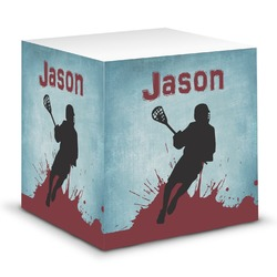 Lacrosse Sticky Note Cube (Personalized)