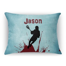 Lacrosse Rectangular Throw Pillow Case (Personalized)