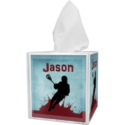 Lacrosse Tissue Box Cover (Personalized)