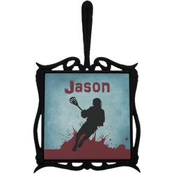 Lacrosse Trivet with Handle (Personalized)