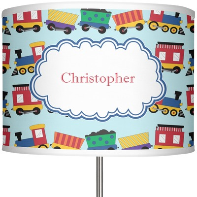 """Trains 13"""" Drum Lamp Shade (Personalized)"""
