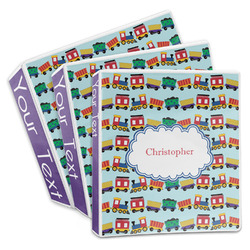 Trains 3-Ring Binder (Personalized)
