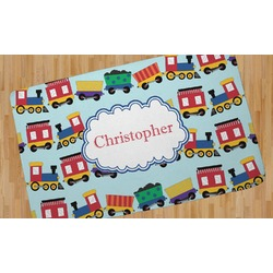 Trains Area Rug - 5'x8' (Personalized)