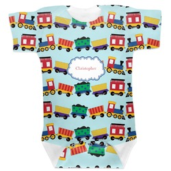 Trains Baby Bodysuit (Personalized)
