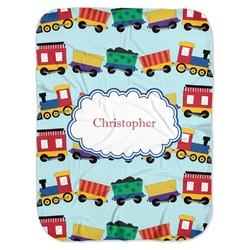 Trains Baby Swaddling Blanket (Personalized)