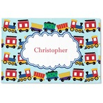 Trains Woven Mat (Personalized)
