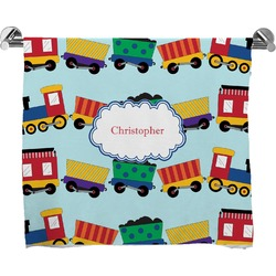 Trains Full Print Bath Towel (Personalized)