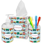 Trains Acrylic Bathroom Accessories Set w/ Name or Text