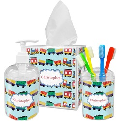 Trains Bathroom Accessories Set (Personalized)