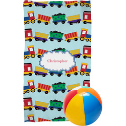 Trains Beach Towel (Personalized)