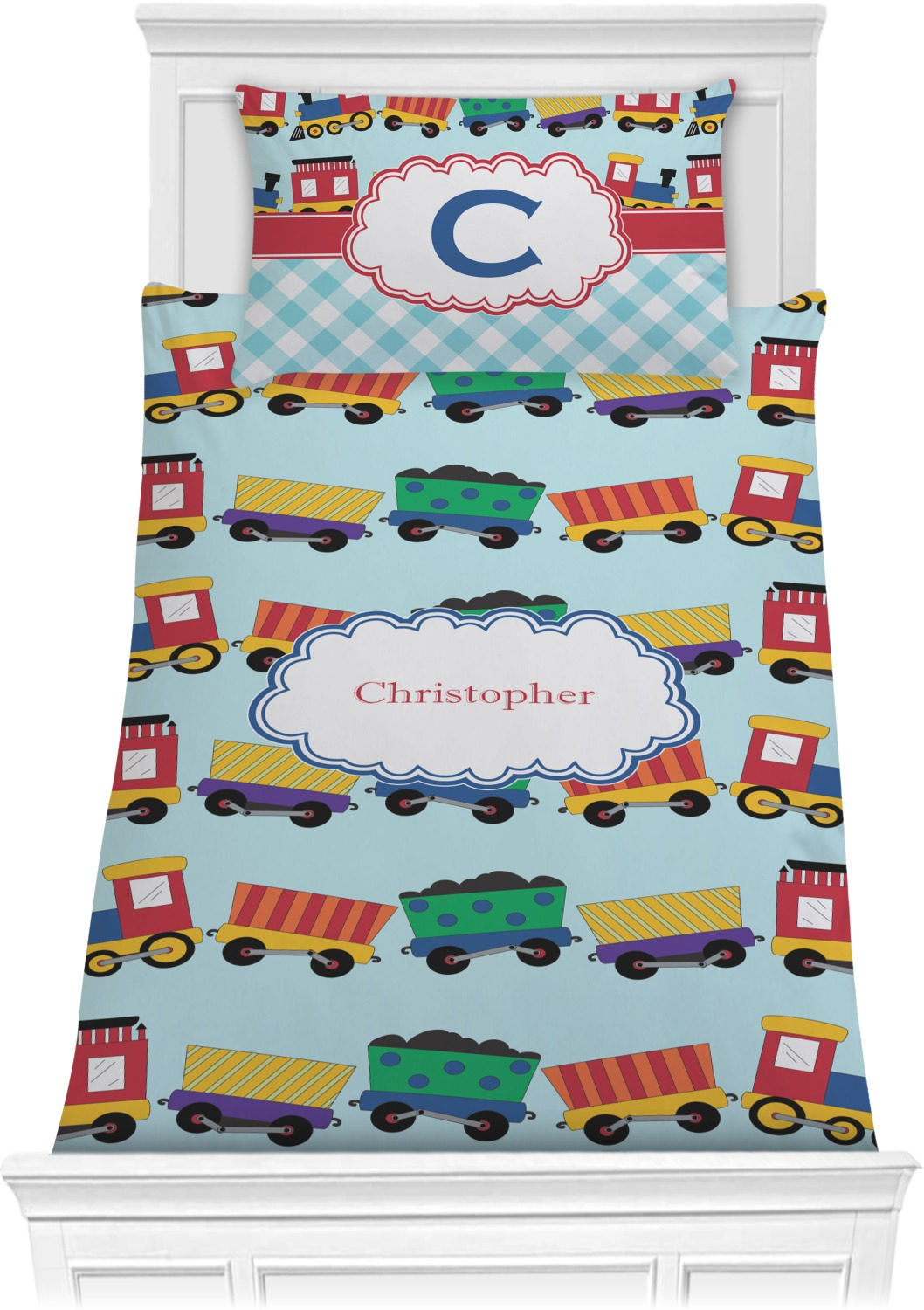 Trains Comforter Set - Twin (Personalized) - YouCustomizeIt