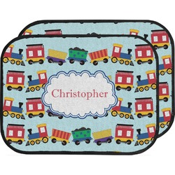 Trains Car Floor Mats (Back Seat) (Personalized)