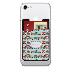 Trains 2-in-1 Cell Phone Credit Card Holder & Screen Cleaner (Personalized)