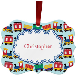 Trains Ornament (Personalized)