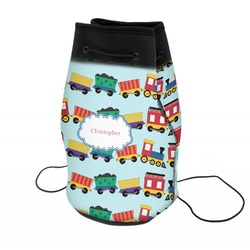 Trains Neoprene Drawstring Backpack (Personalized)