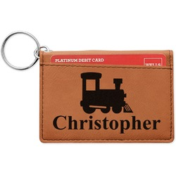 Trains Leatherette Keychain ID Holder (Personalized)
