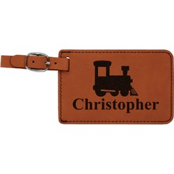 Trains Leatherette Luggage Tag (Personalized)