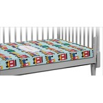 Trains Crib Fitted Sheet (Personalized)