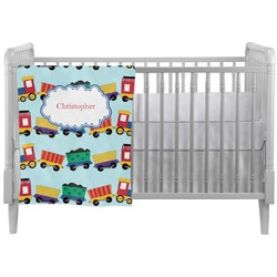 Trains Crib Comforter / Quilt (Personalized)