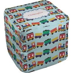 Trains Cube Pouf Ottoman (Personalized)