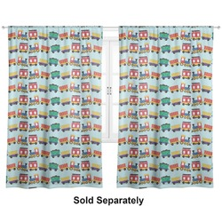 "Trains Curtains - 40""x84"" Panels - Unlined (2 Panels Per Set) (Personalized)"