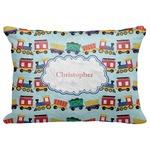 "Trains Decorative Baby Pillowcase - 16""x12"" (Personalized)"