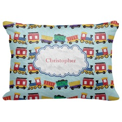 "Trains Decorative Baby Pillowcase - 16""x12"" (Personalized)"