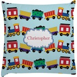 Trains Decorative Pillow Case (Personalized)