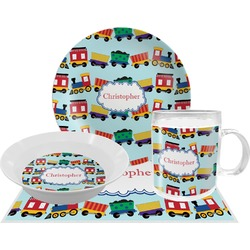 Trains Dinner Set - 4 Pc (Personalized)