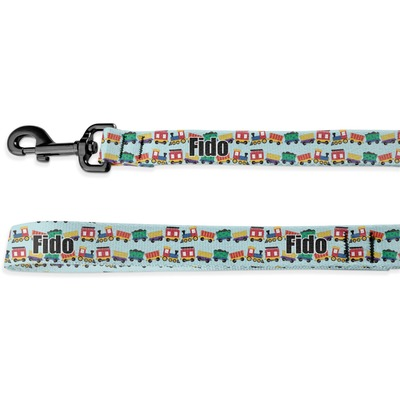 Trains Deluxe Dog Leash (Personalized)