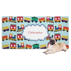Trains Dog Towel (Personalized)