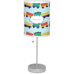 "Trains 7"" Drum Lamp with Shade (Personalized)"